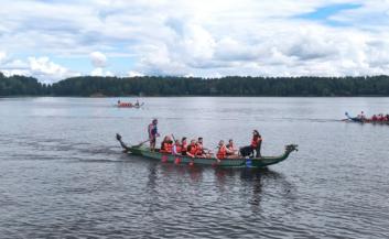 Организация мероприятий по командообразованию на лодках драконах